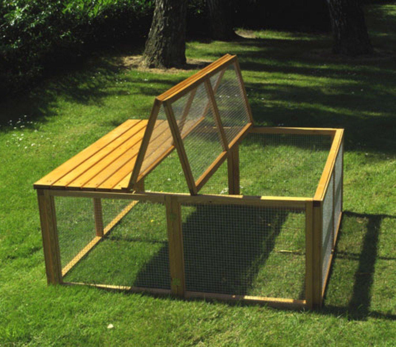 promadino freilaufgehege mit klappbarer abdeckung. Black Bedroom Furniture Sets. Home Design Ideas