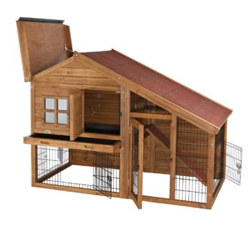 Kaninchenstall-Triexie-mit-Freilaufgehege
